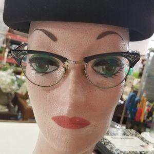 Vintage Madmen Cat Eye Glasses 5 1/2 Bifocals